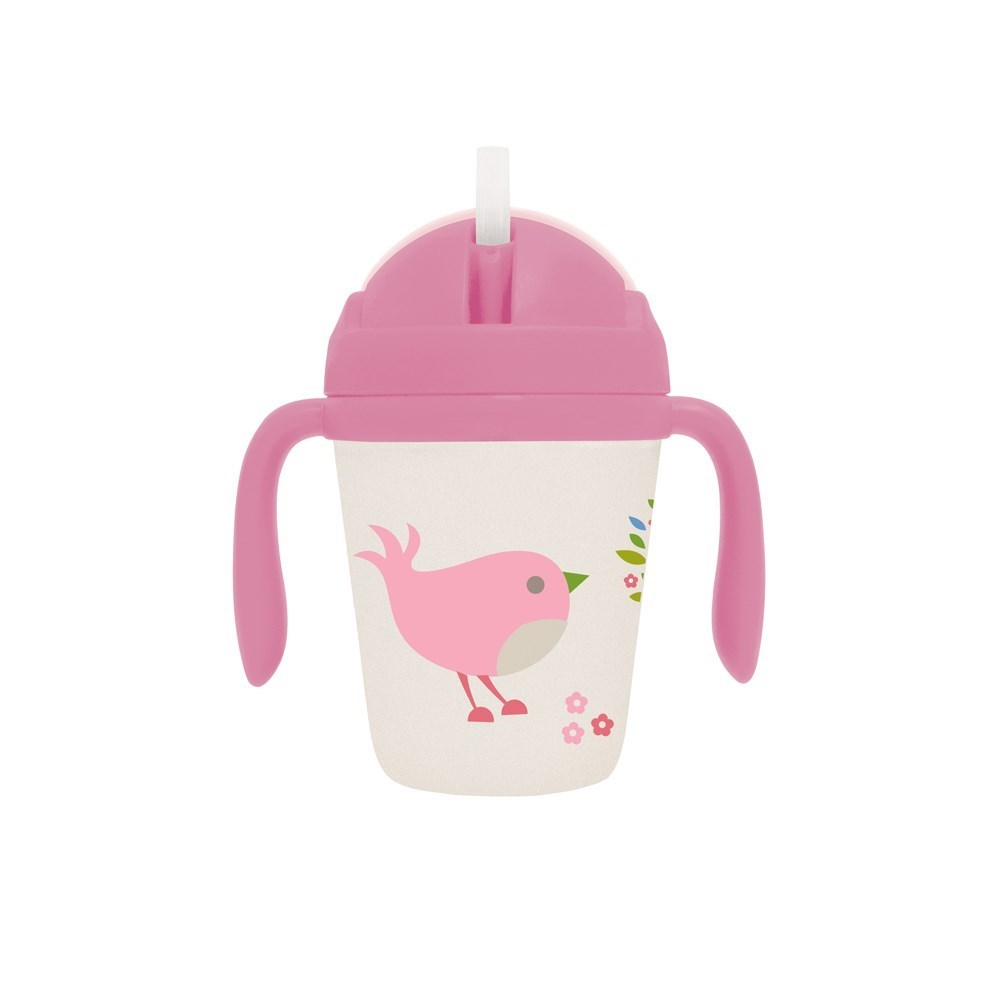 Penny Scallan Chirpy Bird Bamboo Sippy Cup with Weighted Straw 250ml