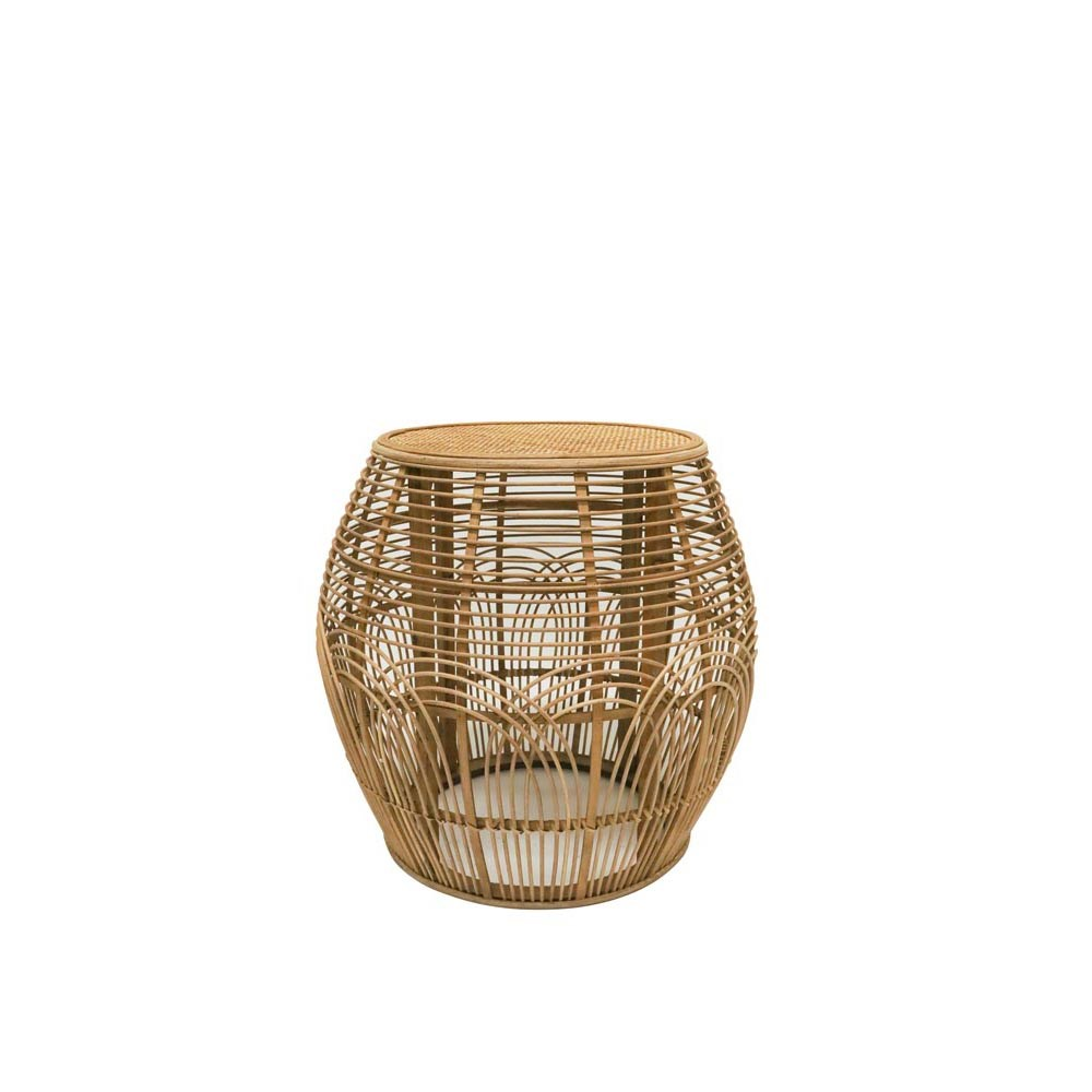 Stoneleigh & Roberson Arch Rattan Side Table Natural