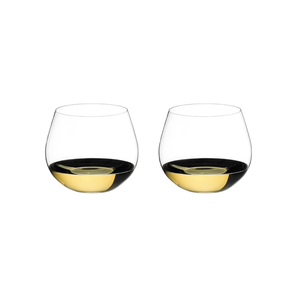 Riedel O 2 Piece Crystal Oaked Chardonnay Stemless Wine Glass Set 580ml