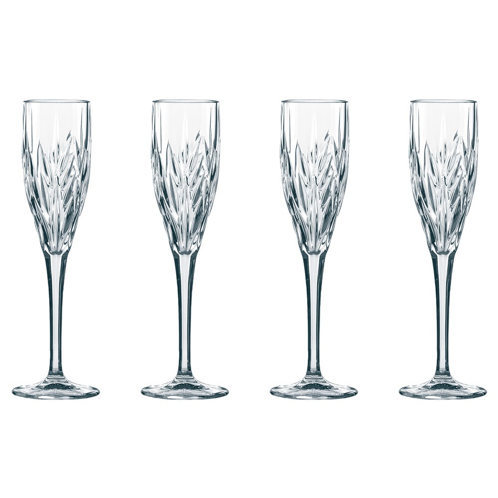 Nachtmann Imperial 4 Piece Crystal Champagne Glass Set 140ml