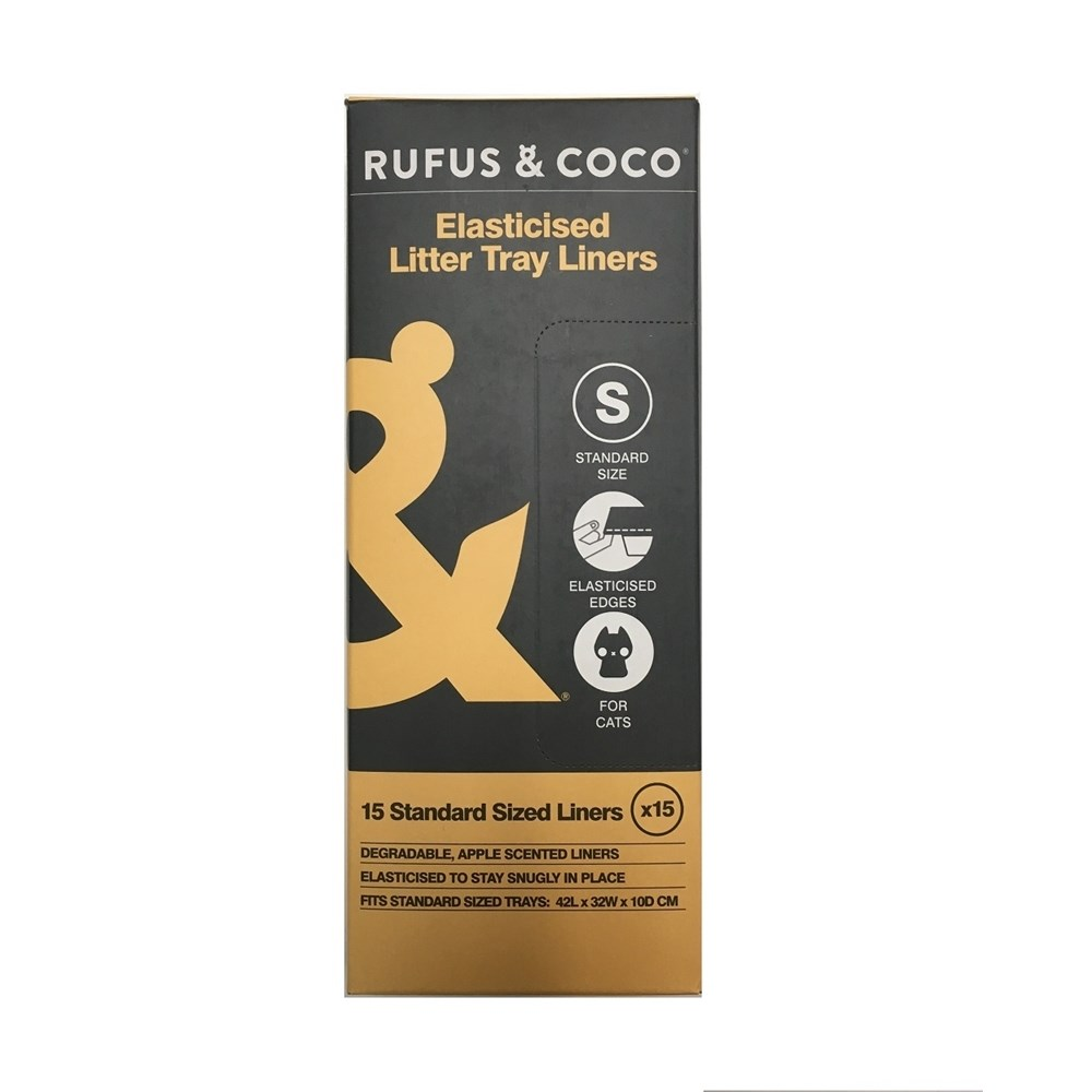 Rufus & Coco Elasticised Litter Tray Liners Standard 15 Pack