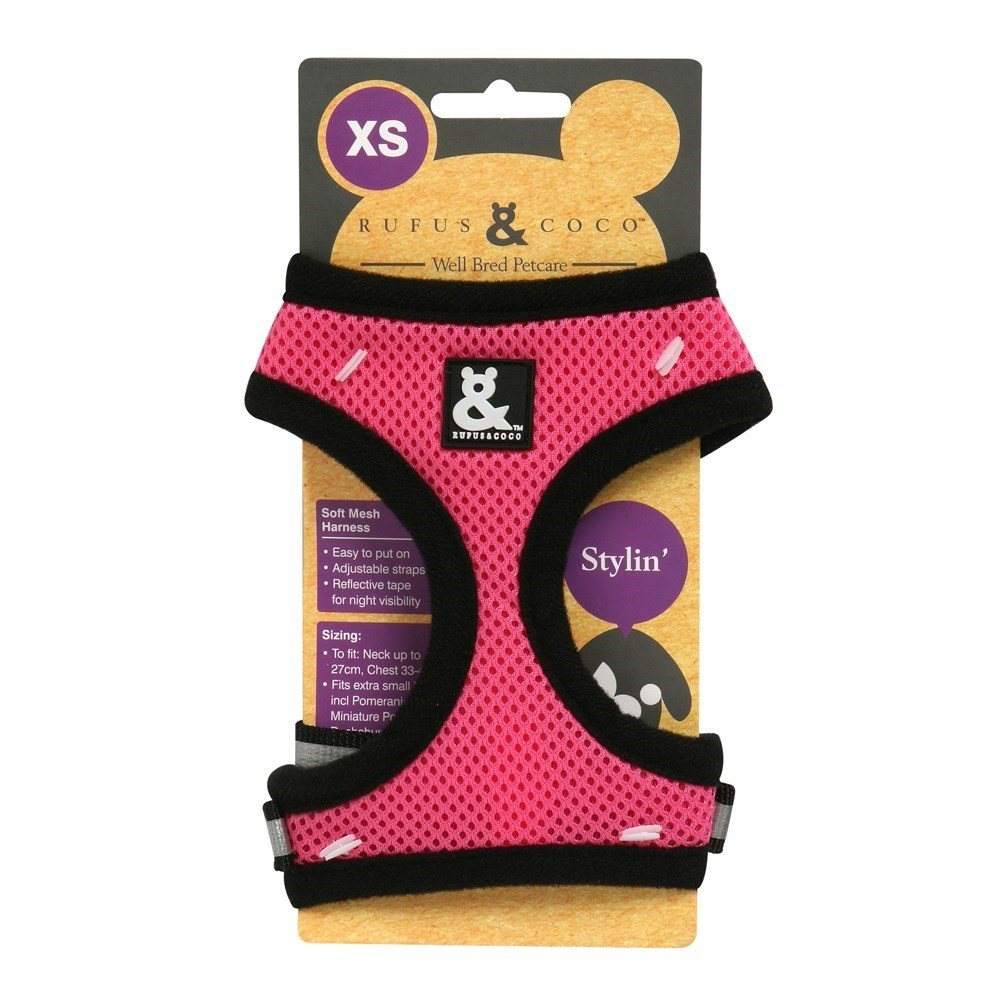 Rufus & Coco Soft Mesh Dog Harness Pink Extra Small