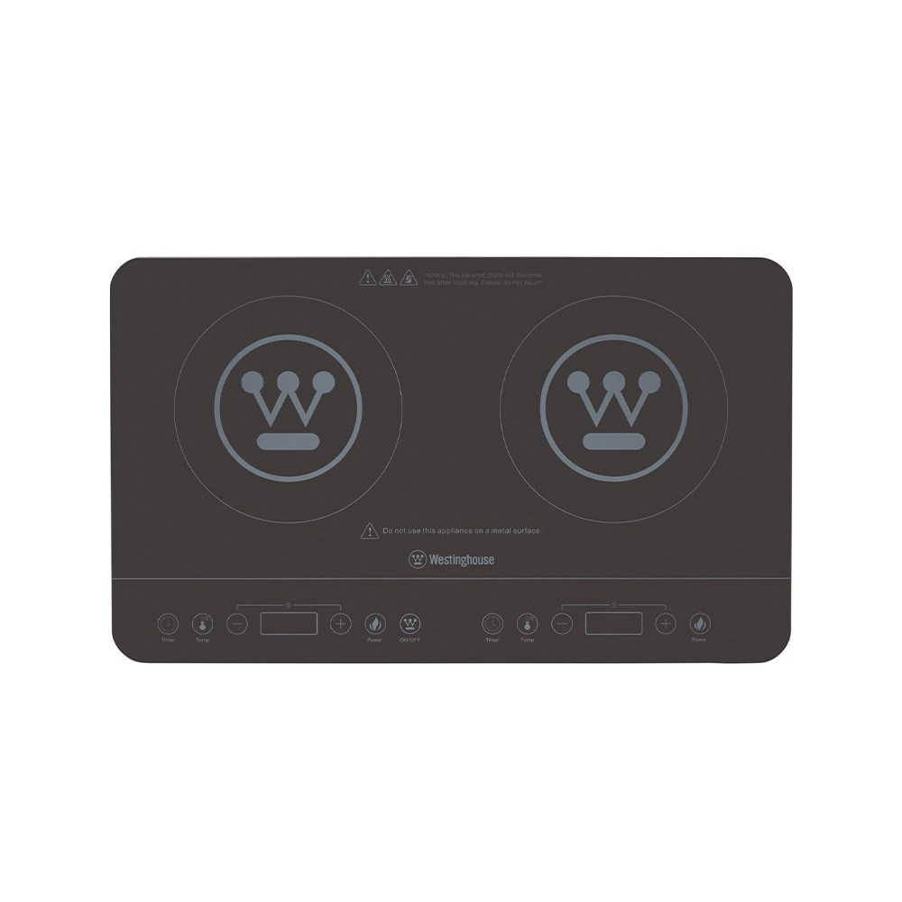 Westinghouse Twin Induction Cooker 2400W Black