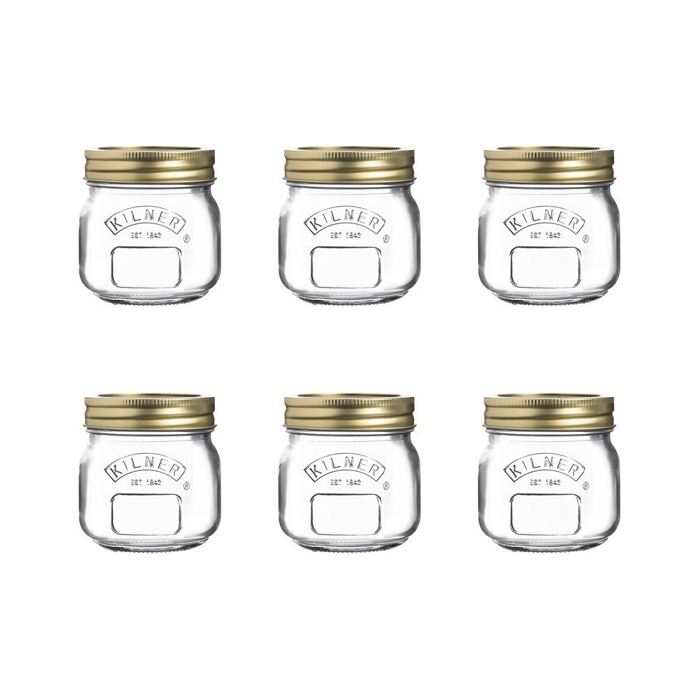 Kilner Genuine Preserve Glass Jar 250ml Set of 6