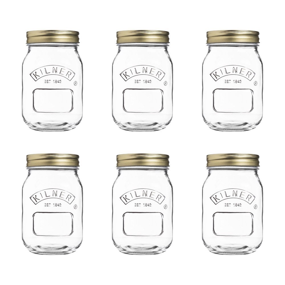 Kilner Genuine Preserve Glass Jar 500ml set of 6