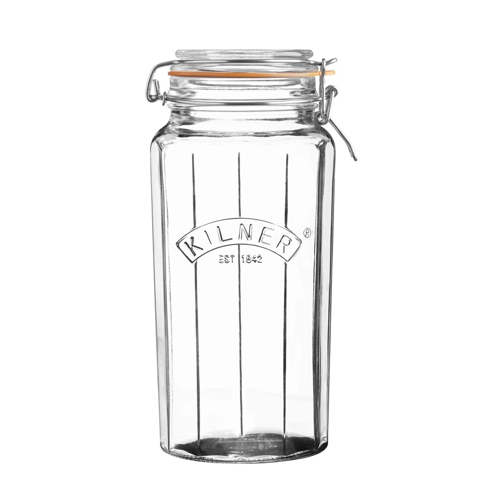 Kilner Facetted Clip Top Jar 1.8L
