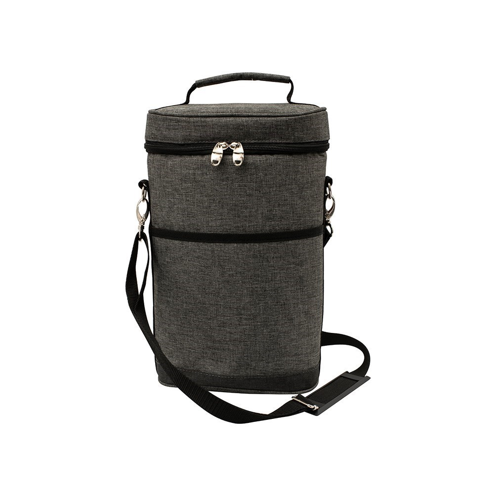 Karlstert Deluxe 2 Bottle Insulated Wine Bag Charcoal Grey
