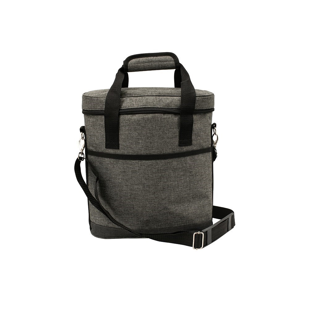 Karlstert Deluxe 3 Bottle Insulated Wine Bag Charcoal Grey