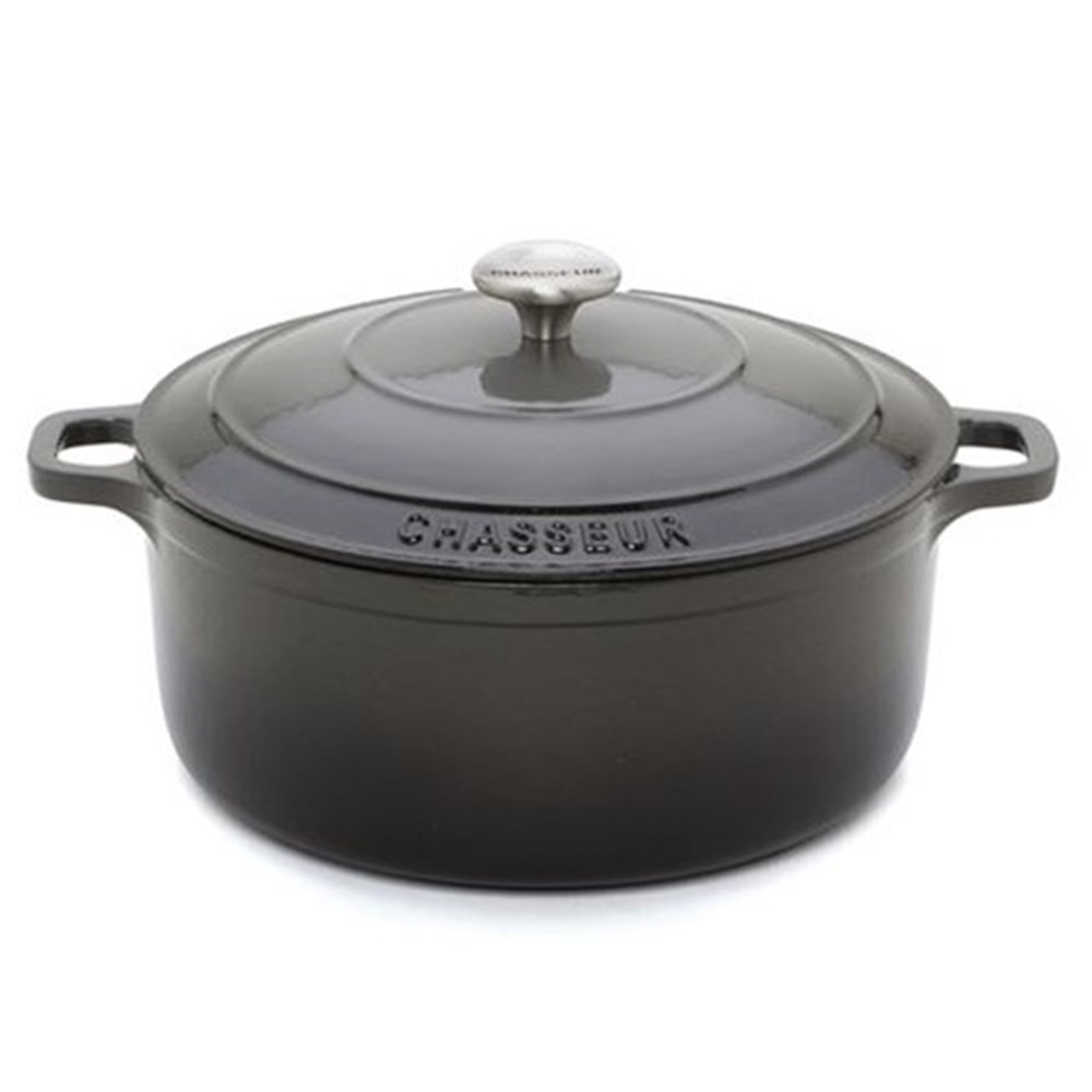 Chasseur Round French Oven 26cm/5.2L Caviar