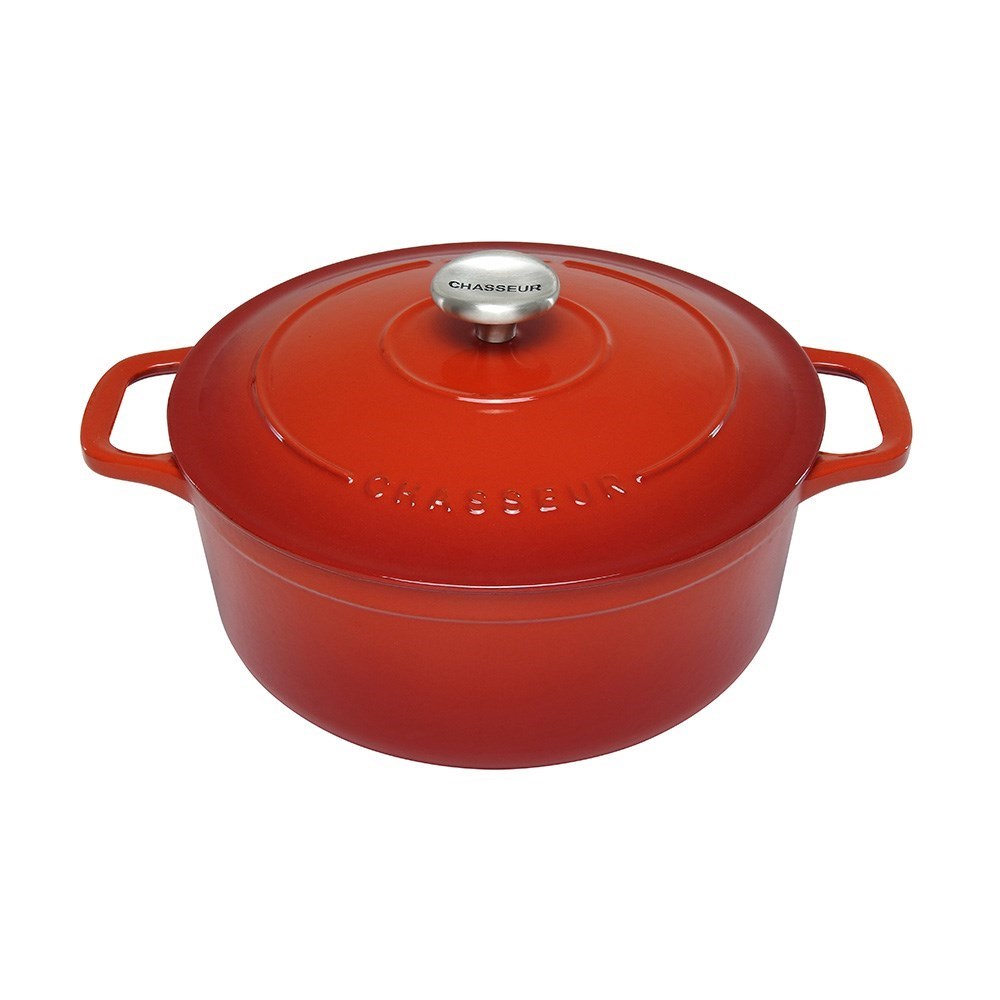 Chasseur Round French Oven 28cm/6.3L Inferno Red