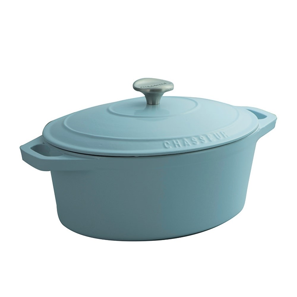 Chasseur Oval French Oven 27cm/3.6L Duck Egg Blue