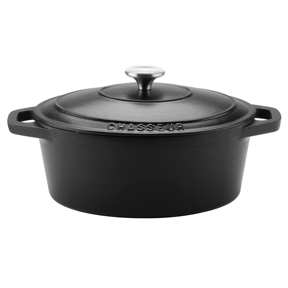 Chasseur Oval French Oven 27cm/3.6L Matte Black