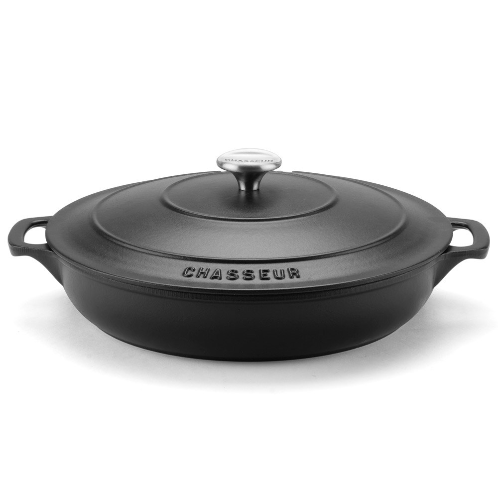 Chasseur Round French Oven 30cm/2.5L Matte Black