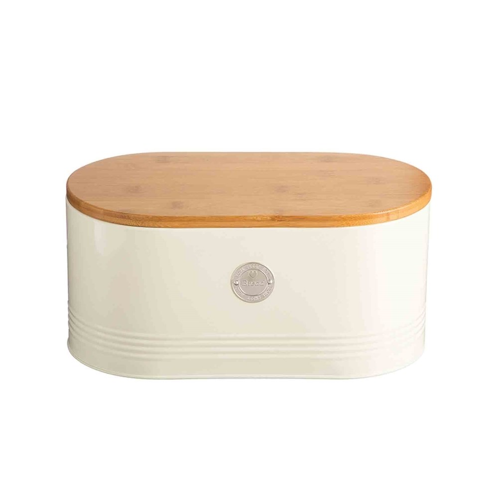 Typhoon Living Bread Bin 18 x 15 x 34cm Cream