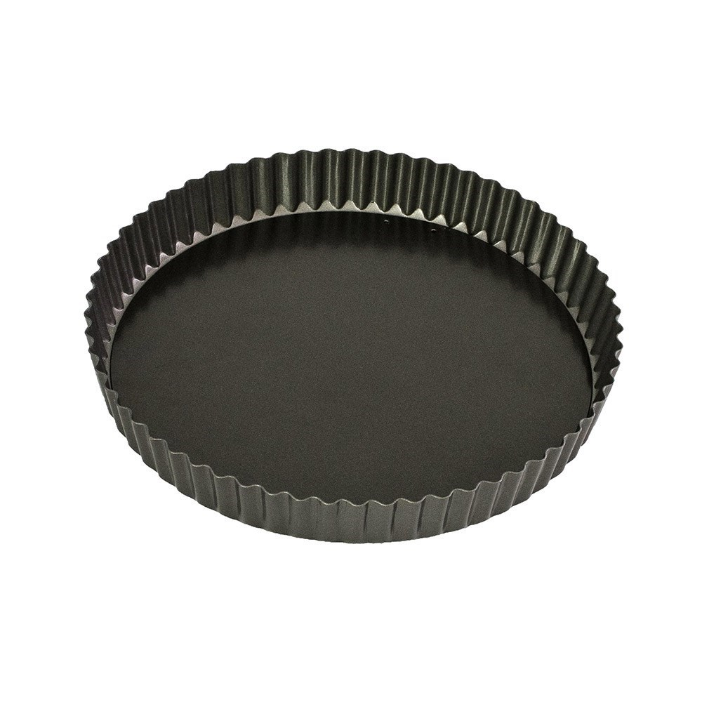 Bakemaster Classic Round Loose Base Quiche Pan 25cm
