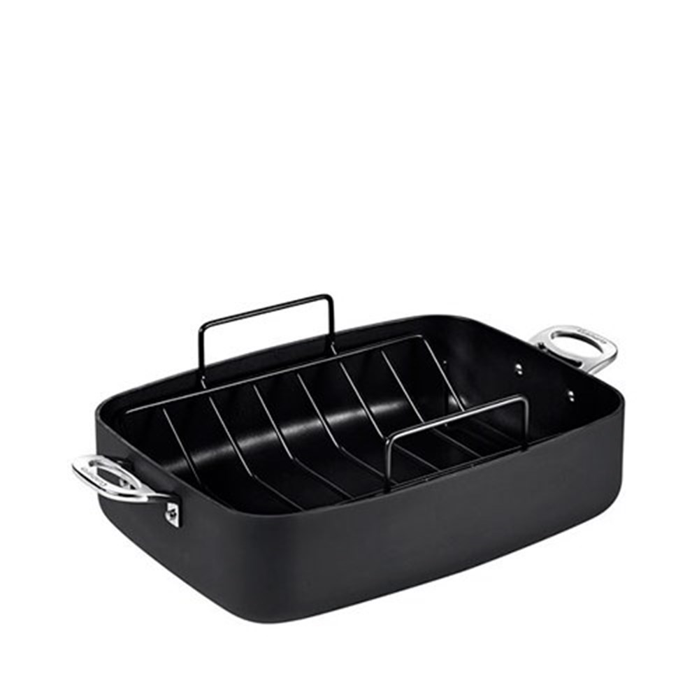 Cuisinart Chef iA+ Roasting Pan With Rack 39 x 28cm Hard Anodised