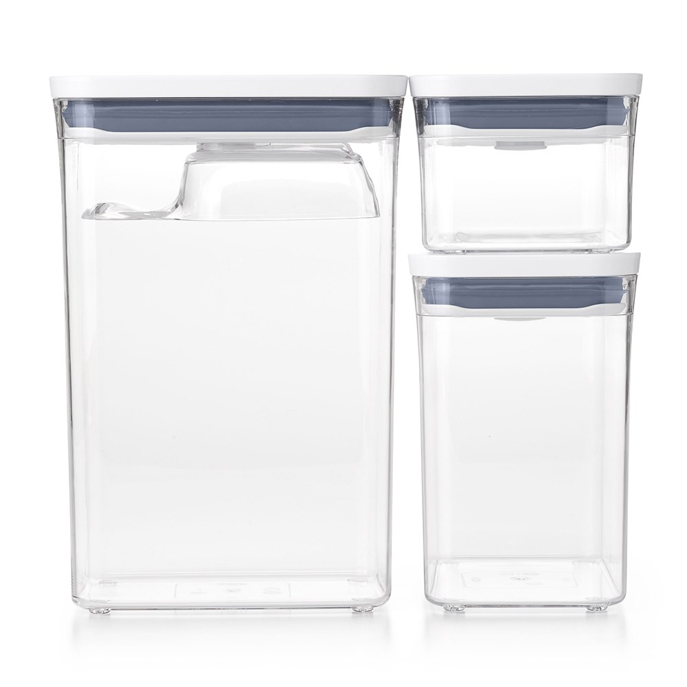 Oxo Pop 3-Piece Rectangle Container Set with Scoop