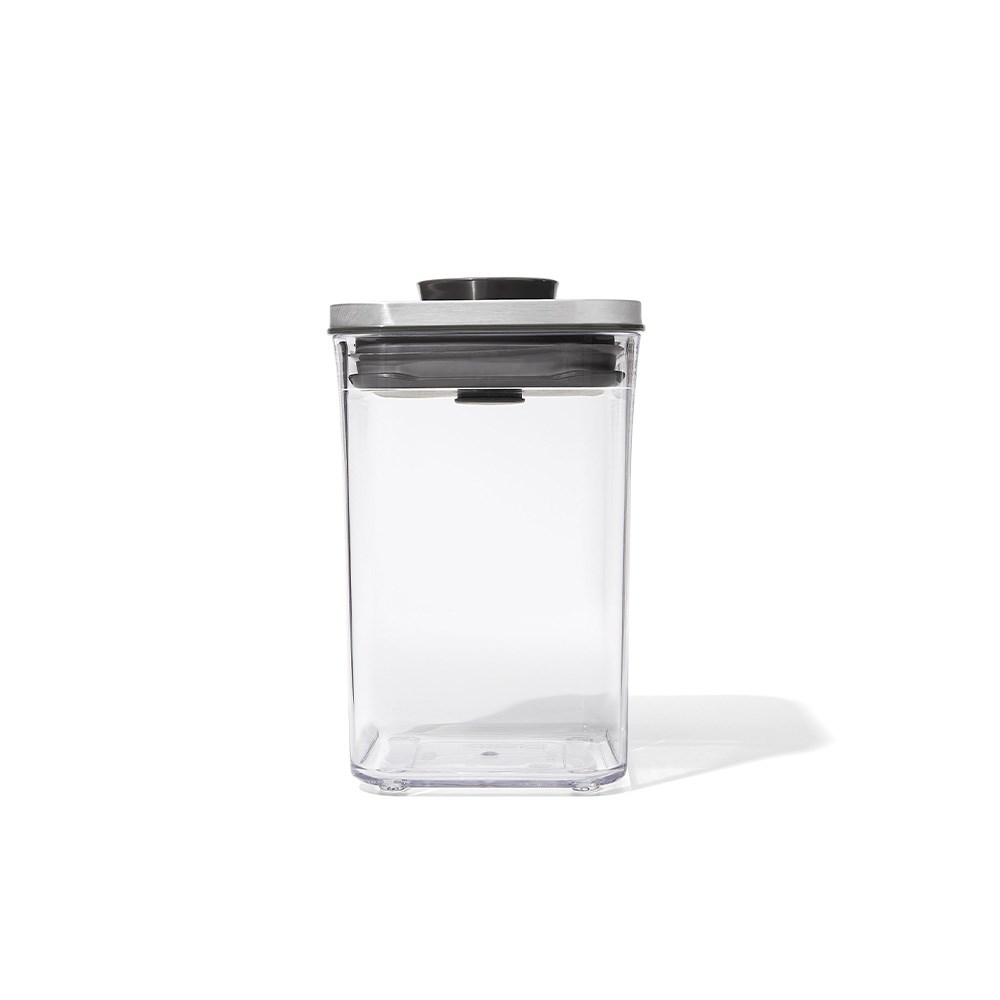 OXO POP 2.0 Small Square Airtight Container Short Steel 1L