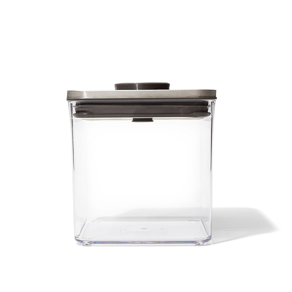 Oxo Pop 2.0 Steel Big Square Short Container 2.6L