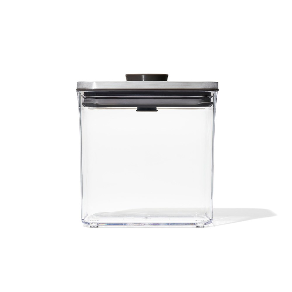 Oxo Pop 2.0 Steel Rectangle Short Container 1.6L