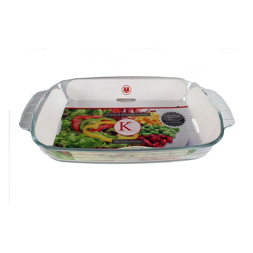 Kates Kitchen Rectangular Glass Baker 2L