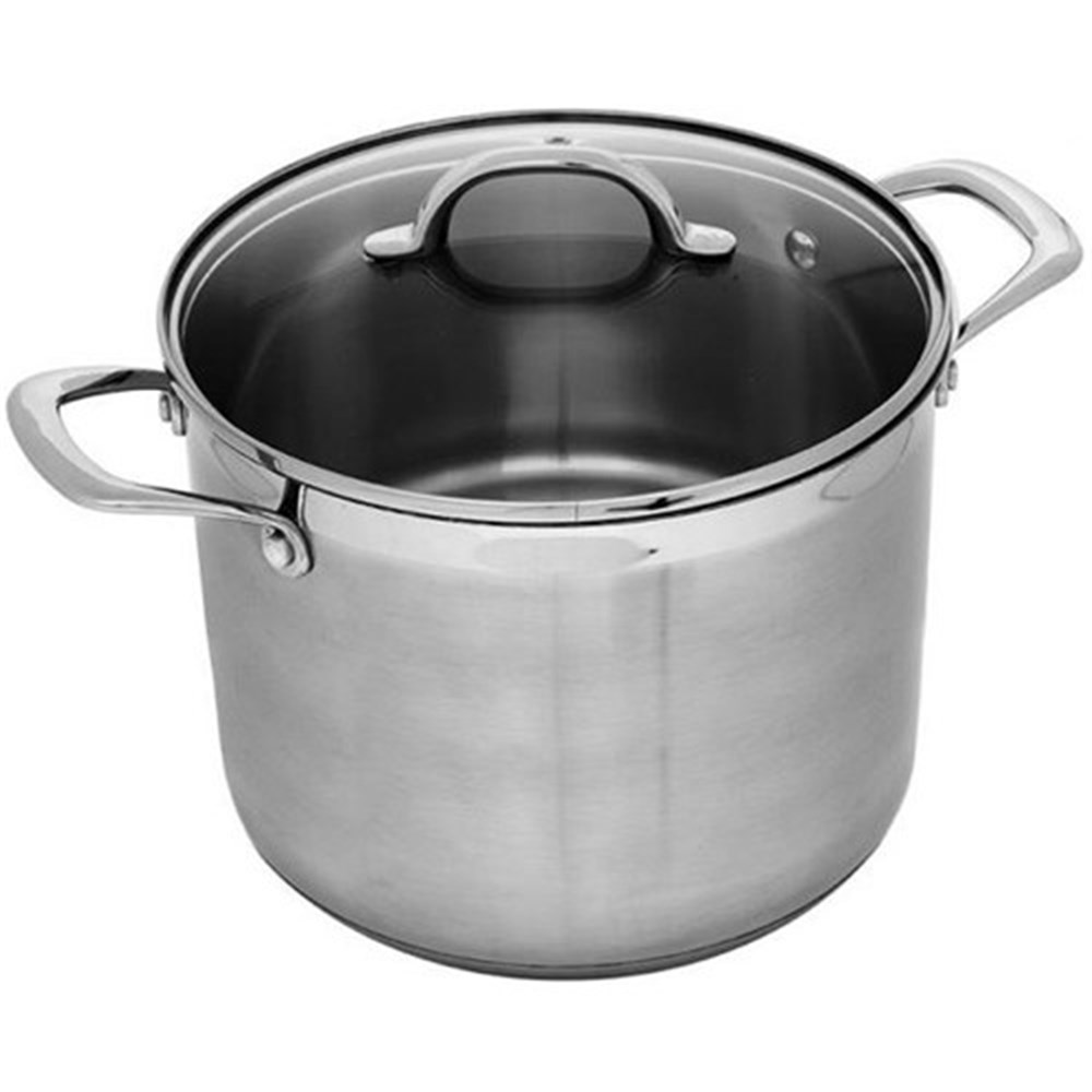 Swiss Diamond Premium Steel Stainless Steel Stock Pot With Lid 7.5L