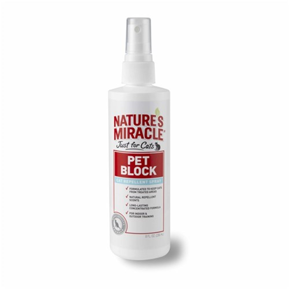 Natures Miracle Just for Cats Pet Block Repellent Spray 236ml