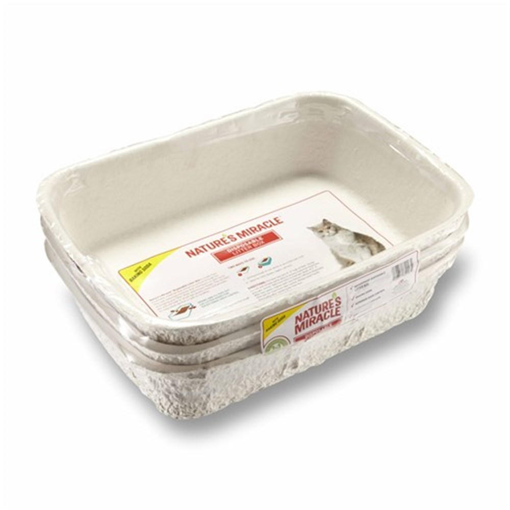 Natures Miracle Disposable Cat Litter Box 3 Pack