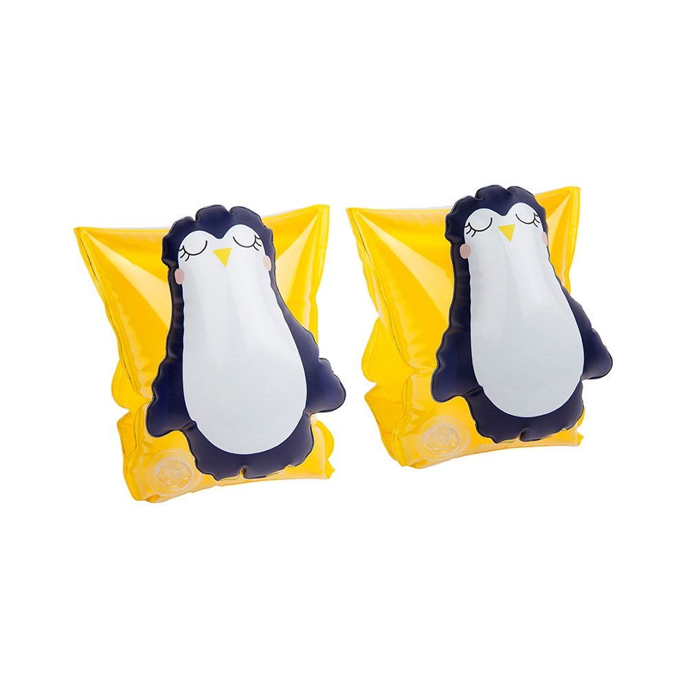 Sunnylife Kid's Inflatable Floaty Swimming Bands Penguin Yellow