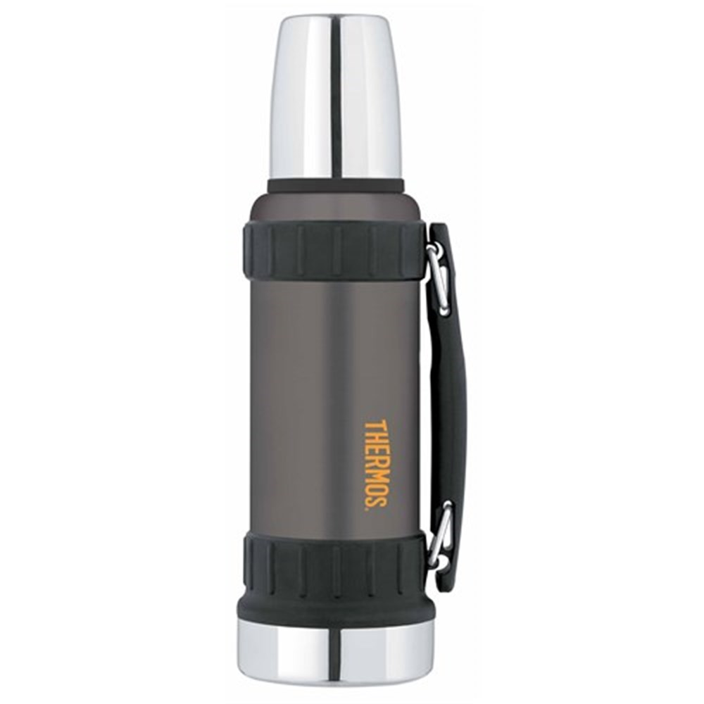 Thermos 1.2L Work Series Stainless Steel Vacuum Insulated Flask Gunmetal Grey