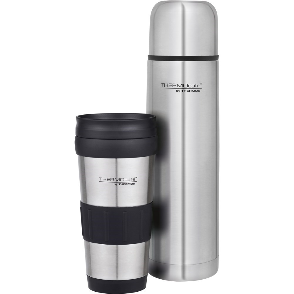 Thermos THERMOcafe Combo Pack 1L Flask & 420ml Tumbler