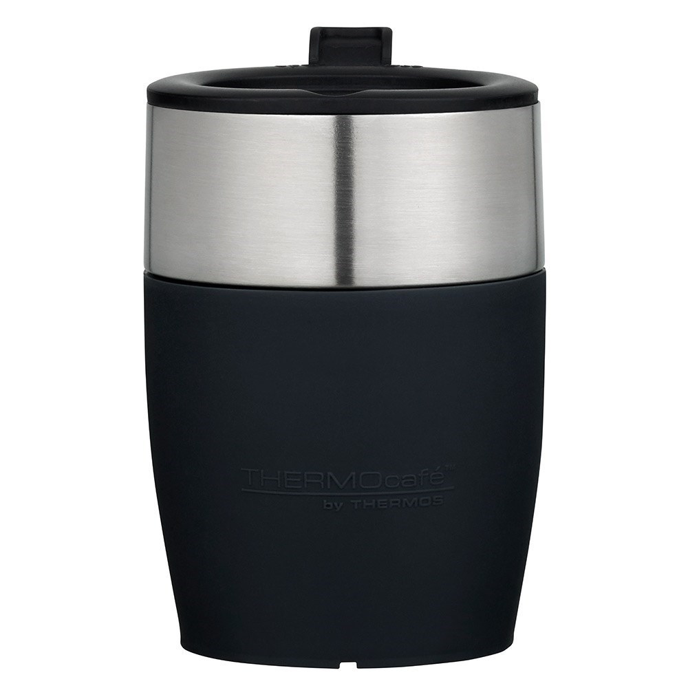 Thermos THERMOcafe Stainless Steel Insulated Travel Cup 230ml Black