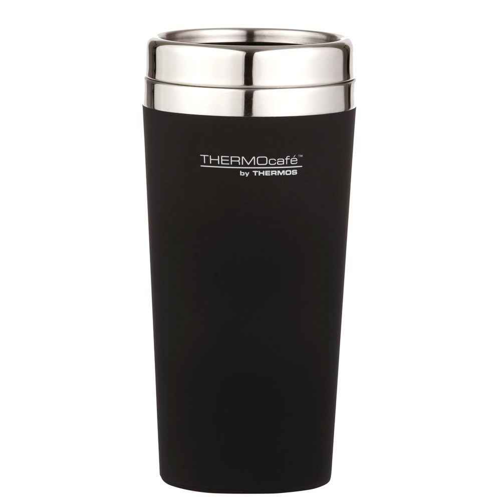 Thermos THERMOcafe Soft Touch Travel Tumbler Matte Black 420ml