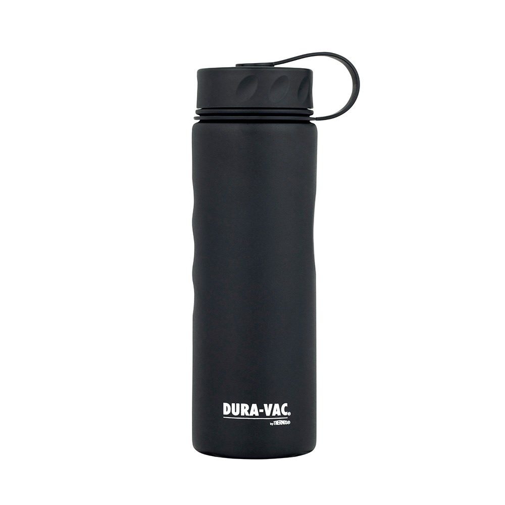 Thermos Dura-Vac Stainless Steel Vacuum Insulated Water Bottle 600ml Black