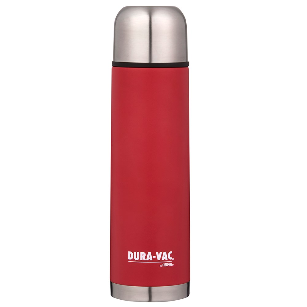 Thermos Dura-Vac 1L Vacuum Insulated Slimline Flask - Red
