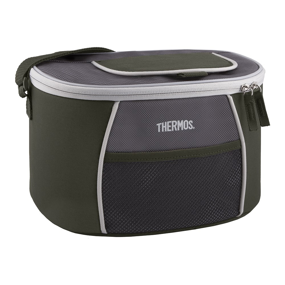 Thermos E5 12 Can Cooler with LDPE Liner Grey Green