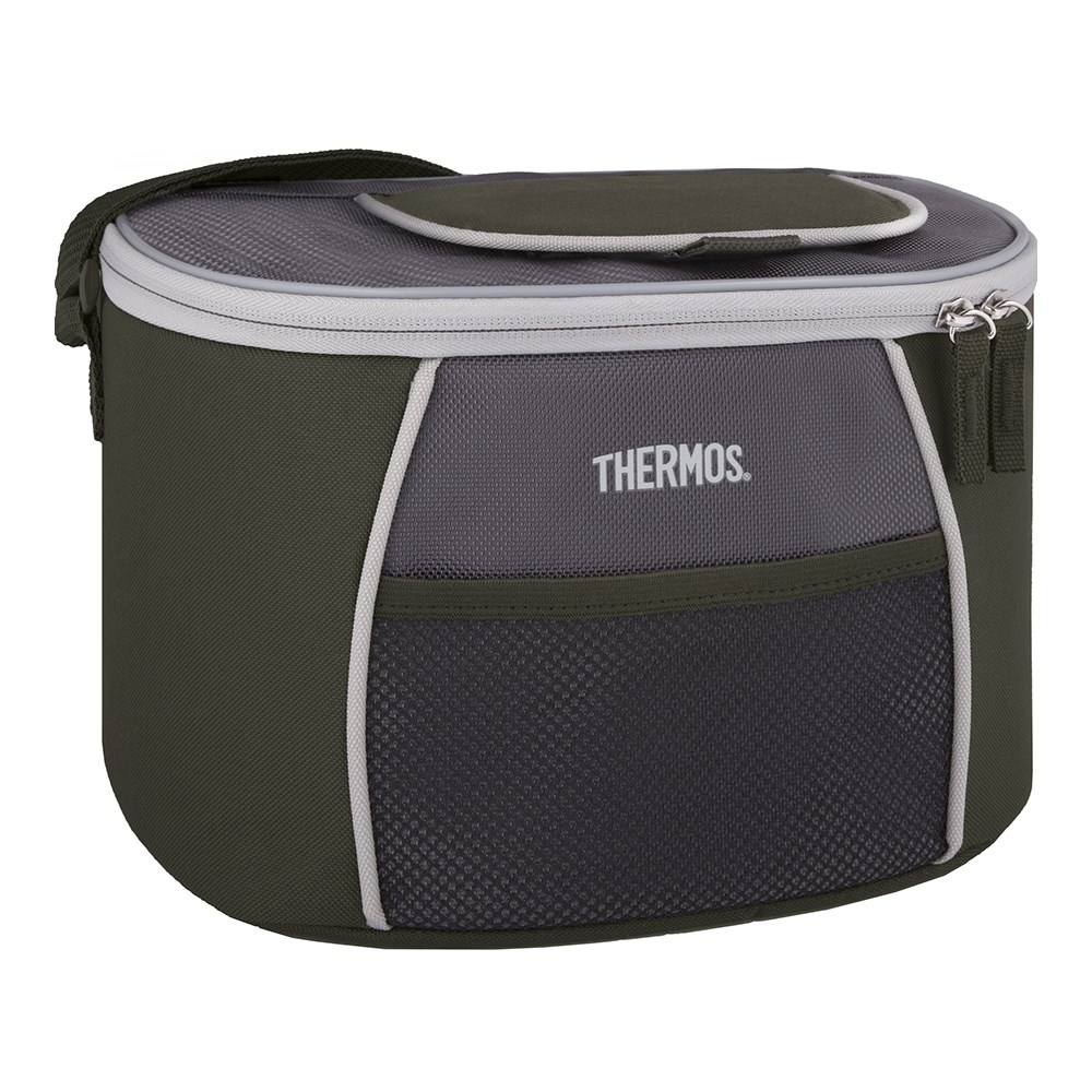 Thermos E5 6 Can Cooler with LDPE Liner Grey Green