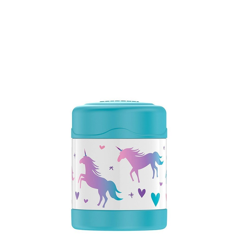 Thermos FUNtainer Stainless Steel Vacuum Insulated Food Jar 290ml Unicorns