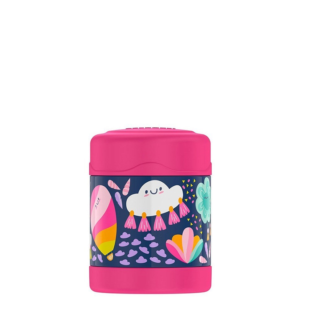 Thermos FUNtainer Stainless Steel Vacuum Insulated Food Jar 290ml Whimsical Clouds