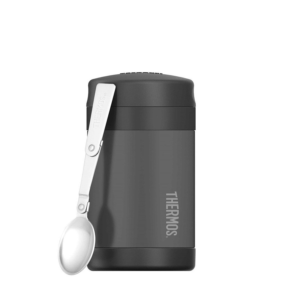 Thermos FUNtainer Food Jar with Spoon 470ml Vacuum Insulated Charcoal