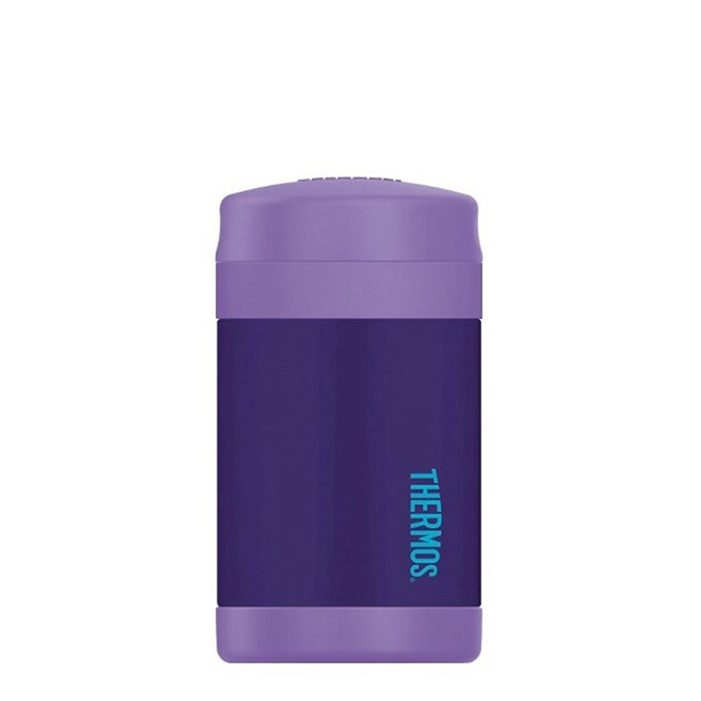 Thermos FUNtainer Food Jar with Spoon 470ml Vacuum Insulated Purple