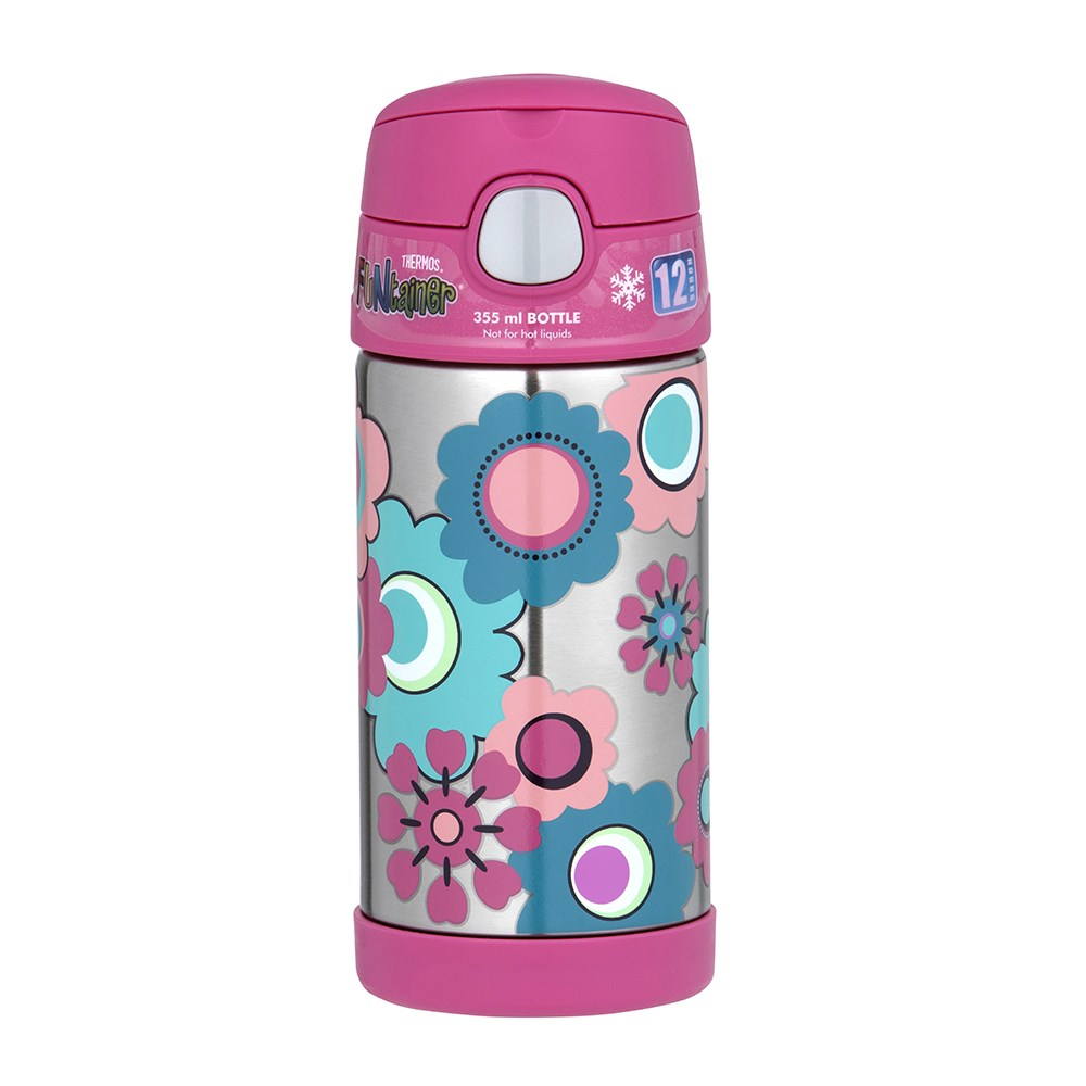 Thermos FUNtainer Vacuum Insulated Drink Bottle 355ml in Flower