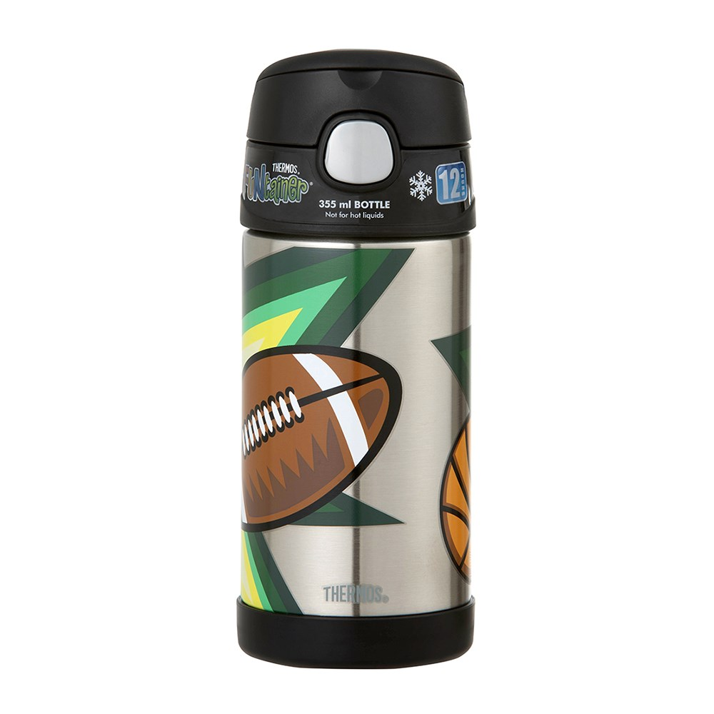 Thermos FUNtainer Vacuum Insulated Drink Bottle 355ml Multisport