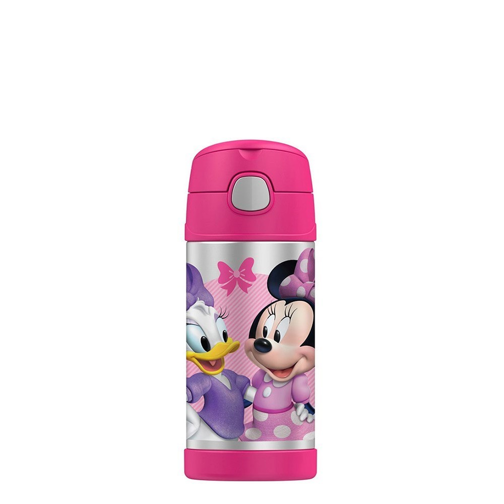 Thermos FUNtainer Stainless Steel Disney Minnie Mouse Drink Bottle 355ml