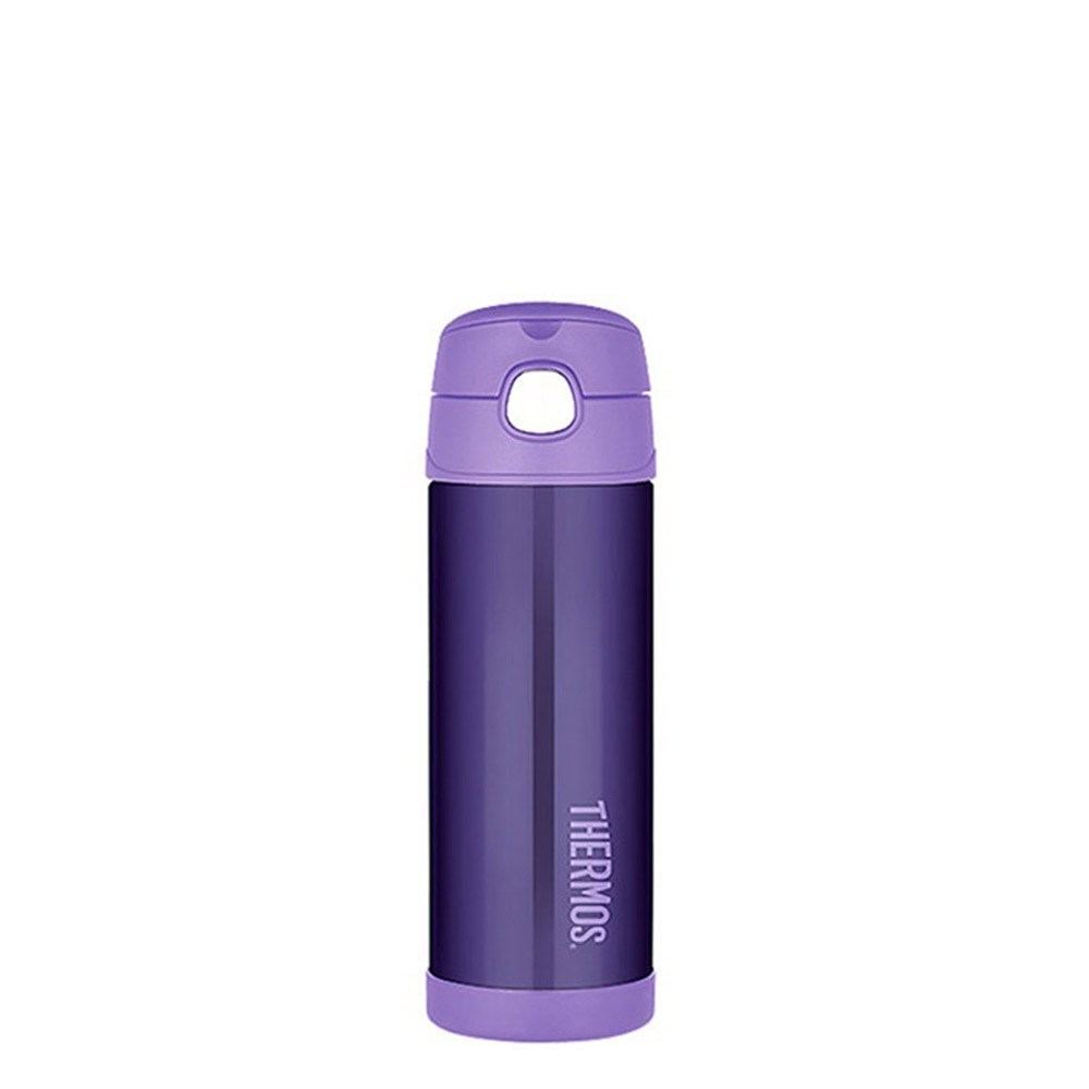 Thermos FUNtainer Drink Bottle 470ml Stainless Steel Vacuum Insulated Purple