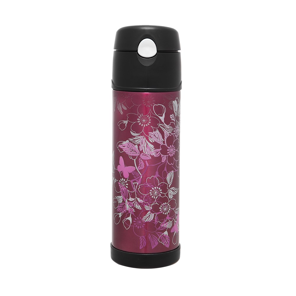 Thermos Vacuum Hydration Drink Bottle SS Magenta 530ml