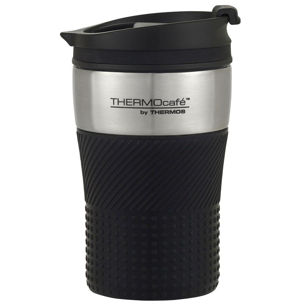 Thermos THERMOcafe Stainless Steel Vacuum Insulated Travel Cup 200ml Black