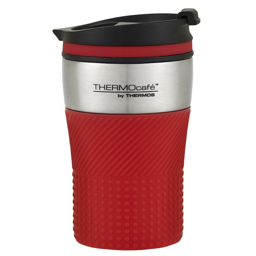 Thermos THERMOcafe Stainless Steel Vacuum Insulated Travel Cup 200ml Red