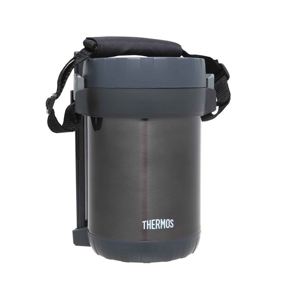 Thermos Stainless Steel Vacuum Insulated Food Storage Set 1.3L Grey