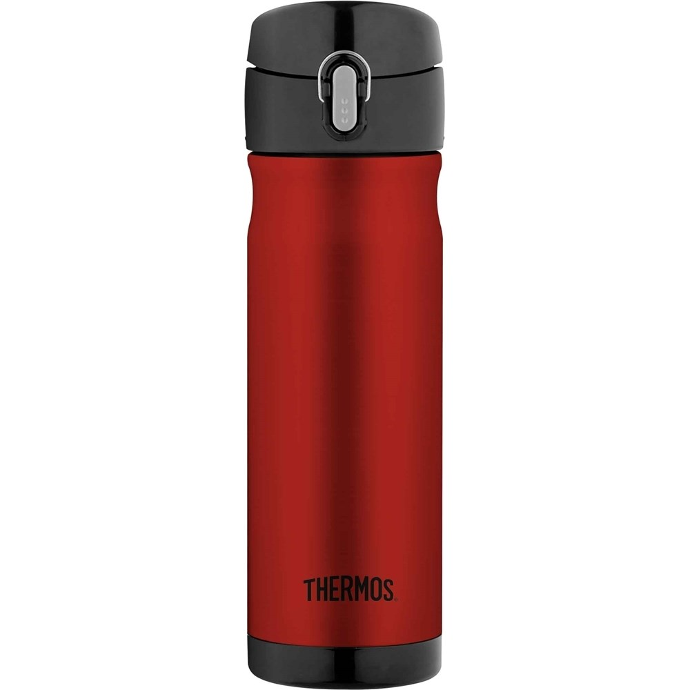 Thermos 470ml Stainless Steel Vacuum Insulated Commuter Bottle Red